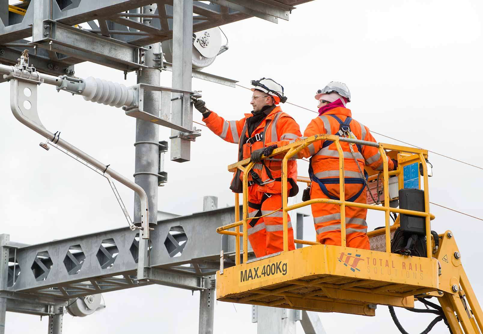 Overhead line electrification equipment