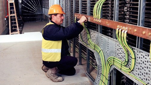 Limehouse Link engineer fixing cables