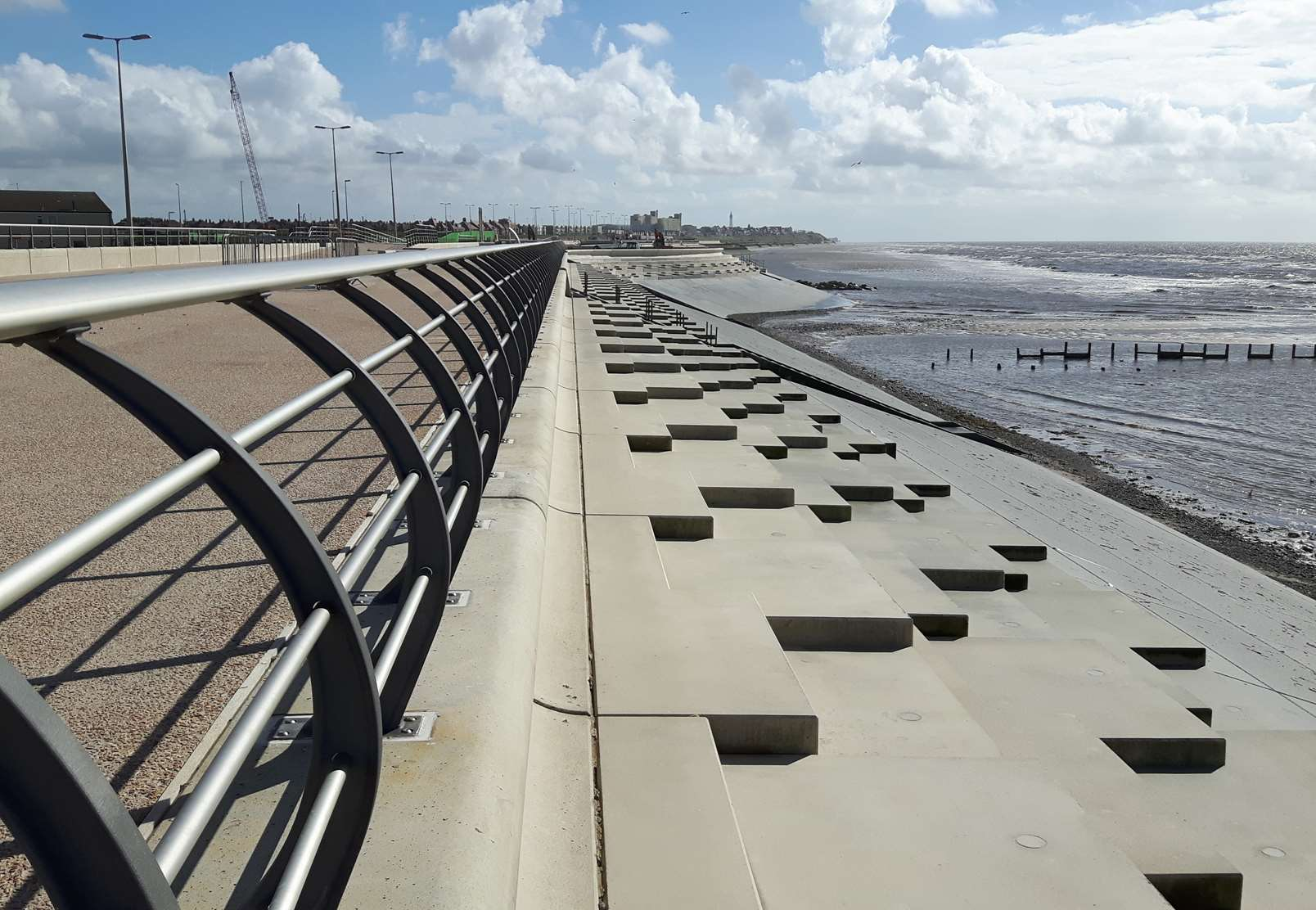Flood defences at Anchorsholme